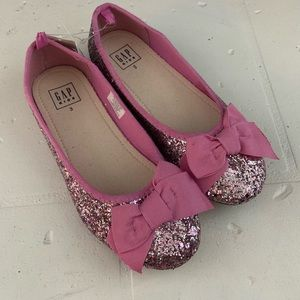 Girls GAP Pink Ballet Flats with Bows